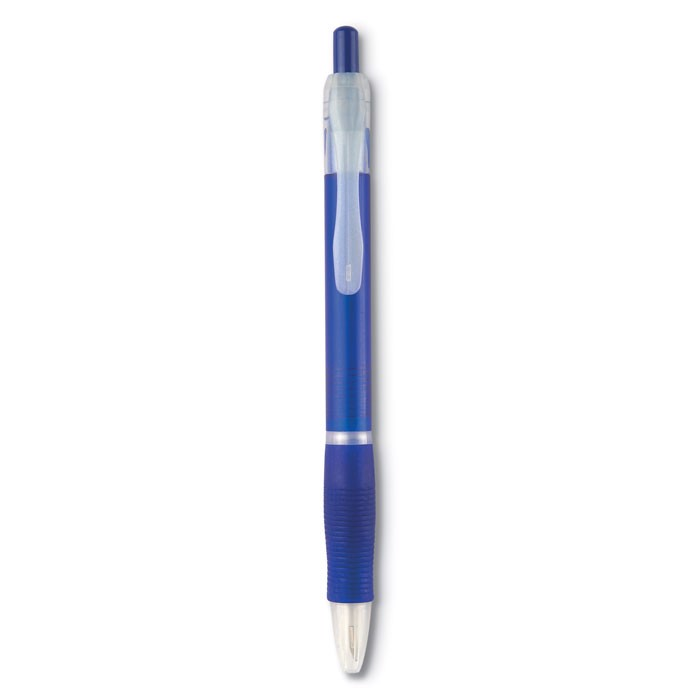 Ball pen with rubber grip Manors - Transparent Blue