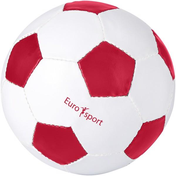 Fotbalový míč Curve - Červená s efektem námrazy / Bílá