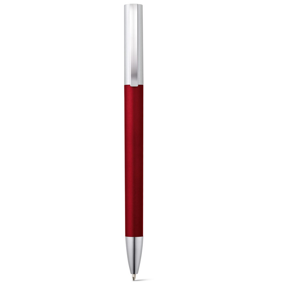 ELBE. Ball pen with metal clip - Burgundy