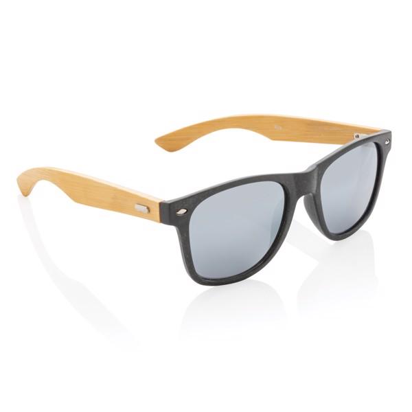 Napszemüveg búzaszárból és bambuszból - Fekete