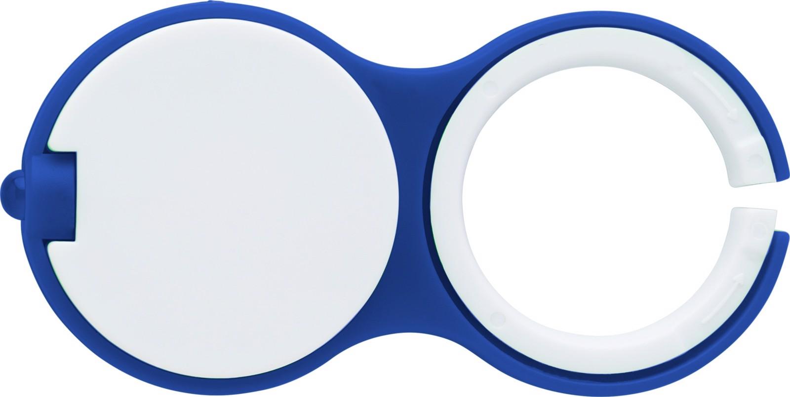 Plastic key holder with one LED light. - Blue