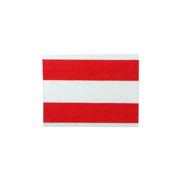 "Fan Tape ""Square"" Single - Red / White"
