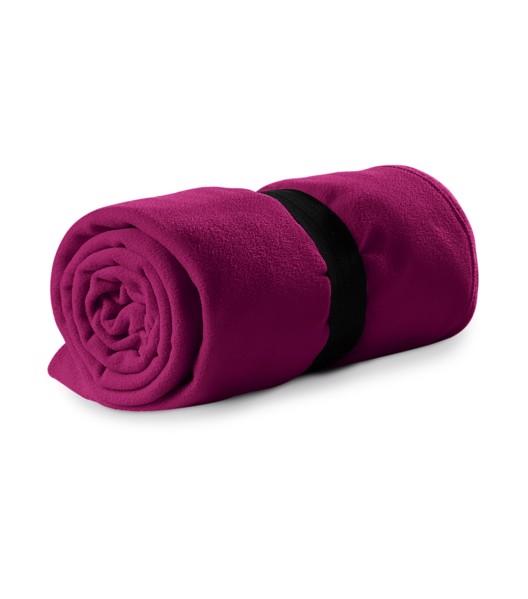 Fleecová deka unisex Piccolio Blanky - Fuchsia Red / uni