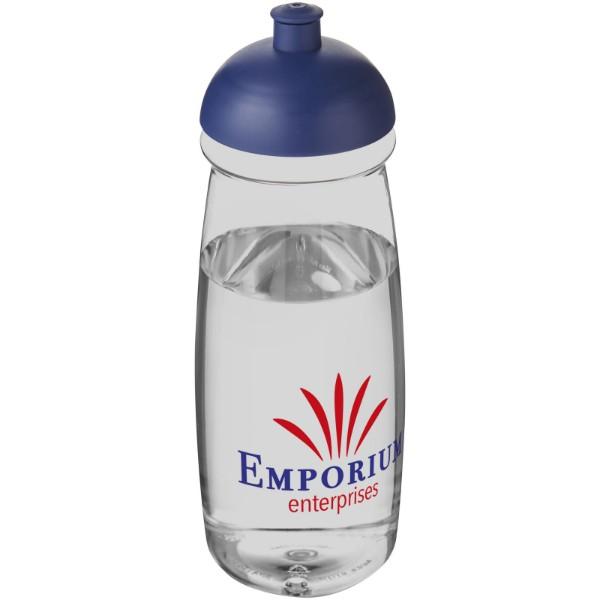 Sportovní láhev s kupolovitým víčkem H2O Pulse® 600 ml - Průhledná / Modrá