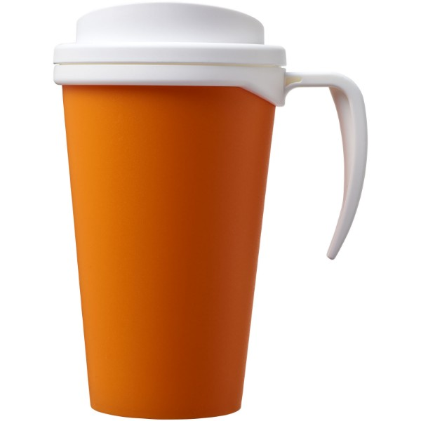 Americano® Vaso térmico grande de 350 ml - Naranja / Blanco