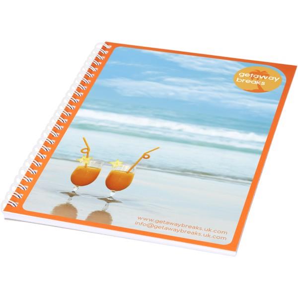 Desk-Mate® A5 Notizbuch mit Kunststoff Cover und Spiralbindung - Weiss