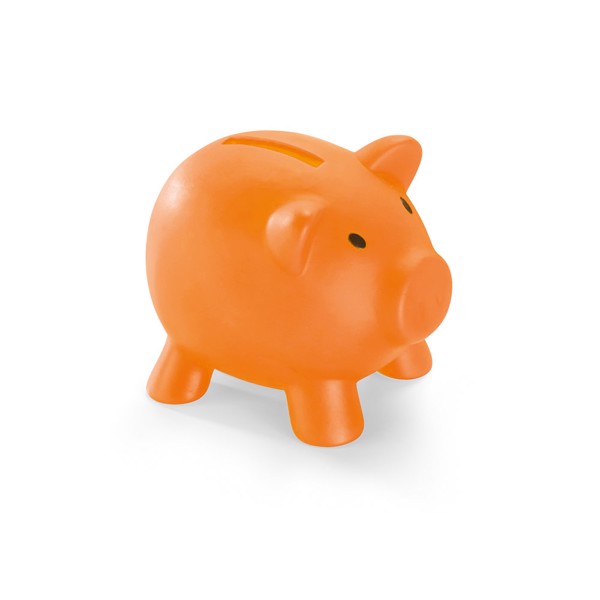 PIGGY. Piggy bank in PVC - Orange