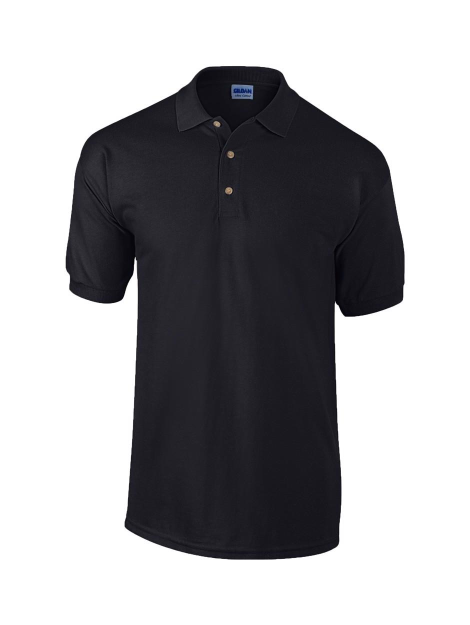 Pique Polo Shirt Ultra Cotton - Black / XXL