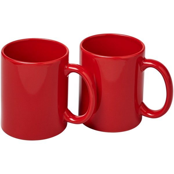 2-częściowy zestaw upominkowy Ceramic - Czerwony
