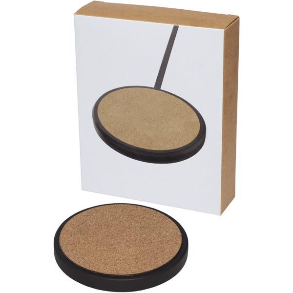 "Base de carga inalámbrica de 10W de piedra caliza/corcho ""Kivi"""