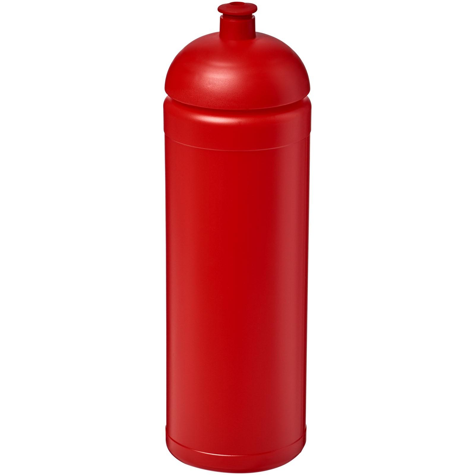 Sportovní láhev s kupolovitým víčkem Baseline® Plus grip 750 ml - Červená s efektem námrazy