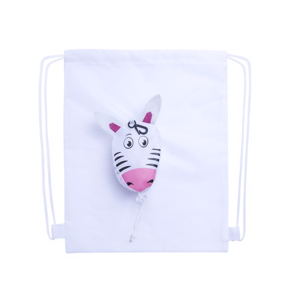 Foldable Drawstring Bag Kissa - White