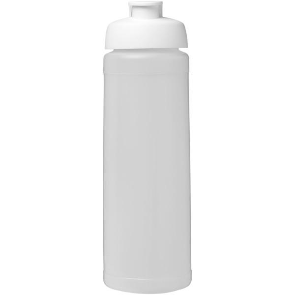 Baseline® Plus 750 ml flip lid sport bottle - Transparent / White