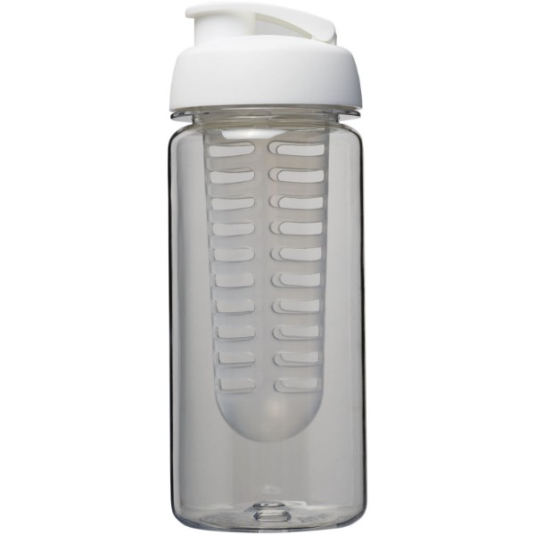 H2O Octave Tritan™ 600 ml flip lid bottle & infuser - Transparent / White