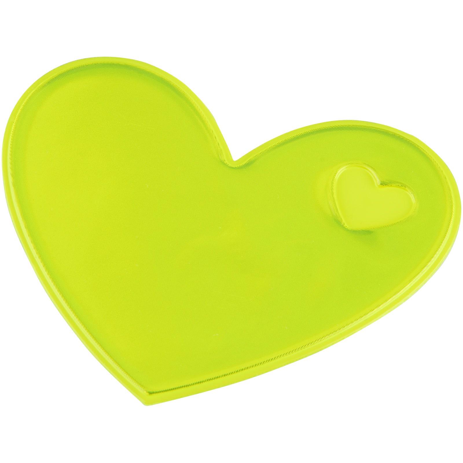 Reflexní samolepka srdce - Žlutá