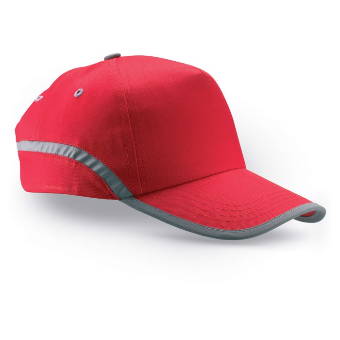 Cotton baseball cap Visinatu - Red