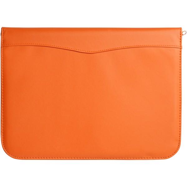 Ebony A4 Reißverschlussmappe - Orange