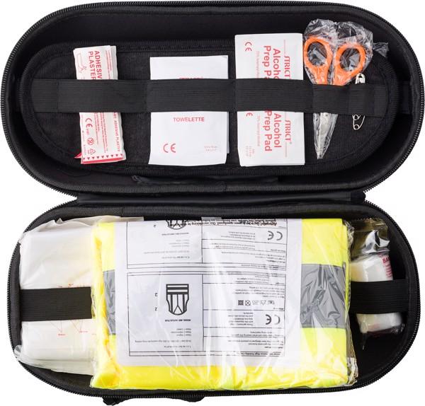 Car emergency first aid kit.