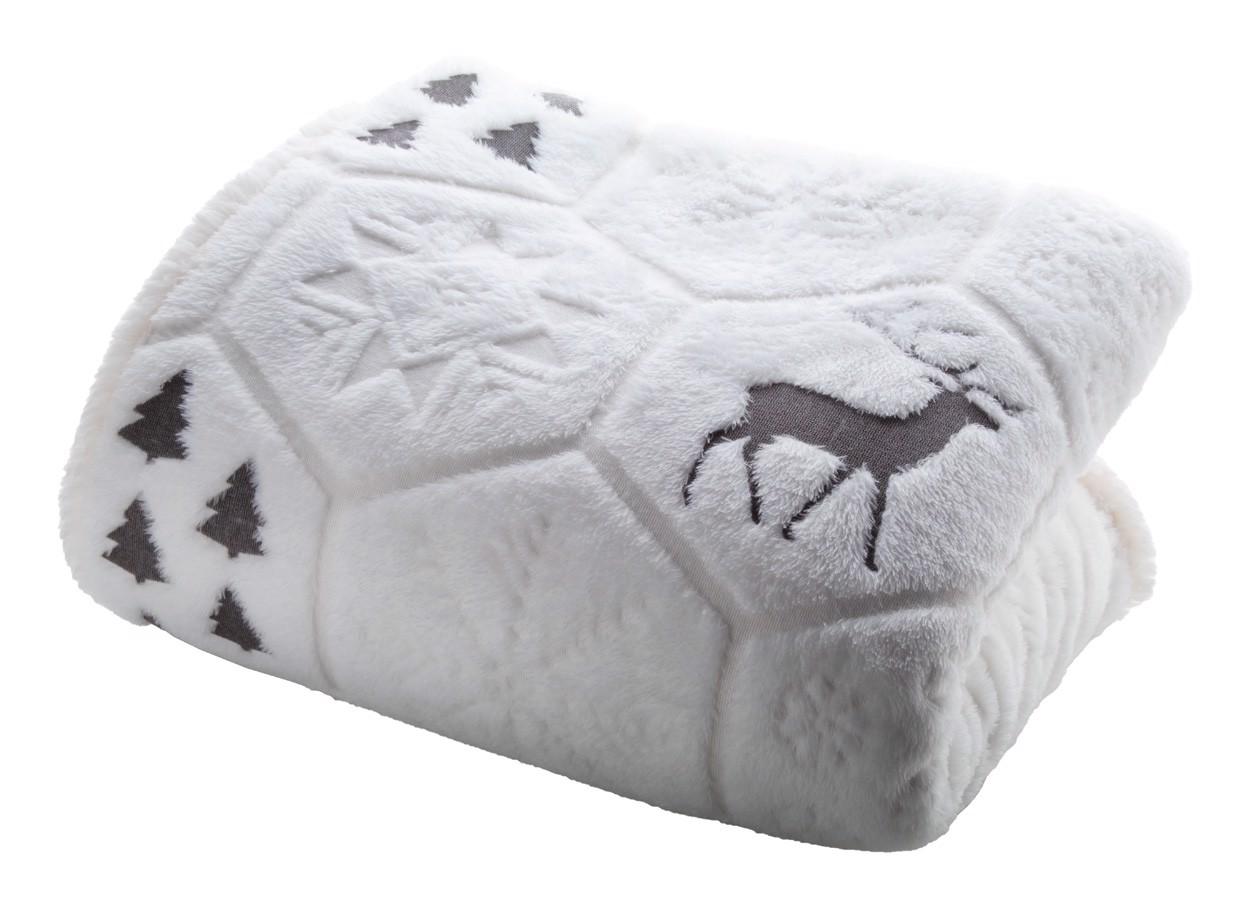 Christmas Blanket Sundborn - Grey / White