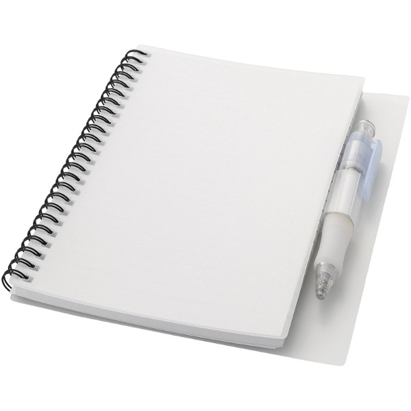 Hyatt notebook with pen - White