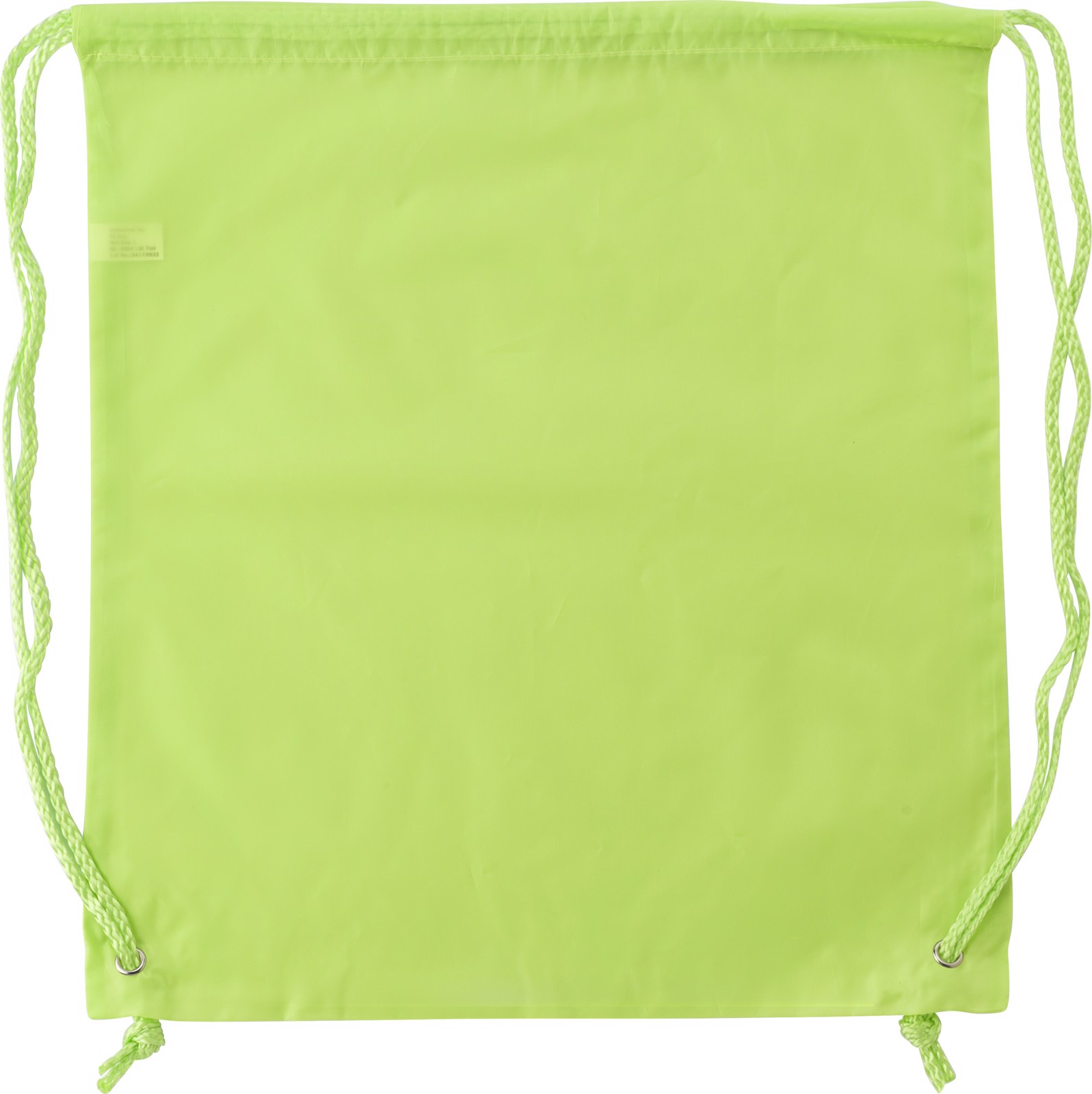 Polyester (190T) drawstring backpack - Lime