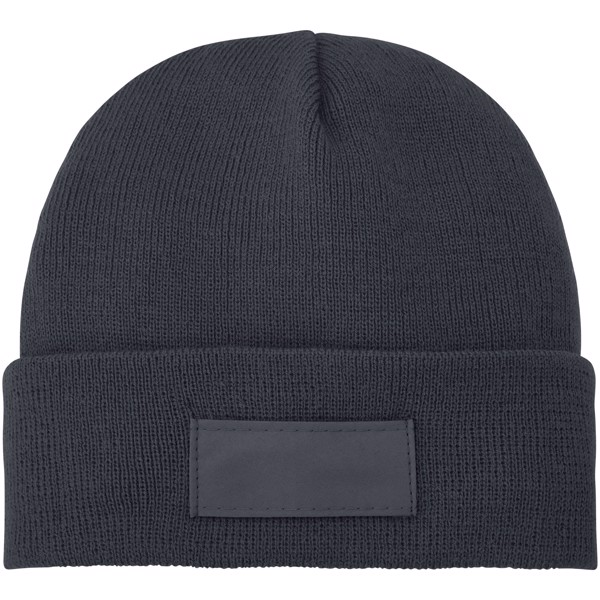 Boreas beanie with patch - Storm grey