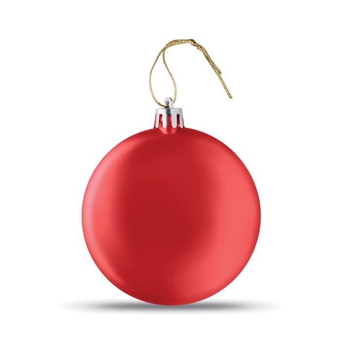 Flat Christmas bauble Lia Ball - Red