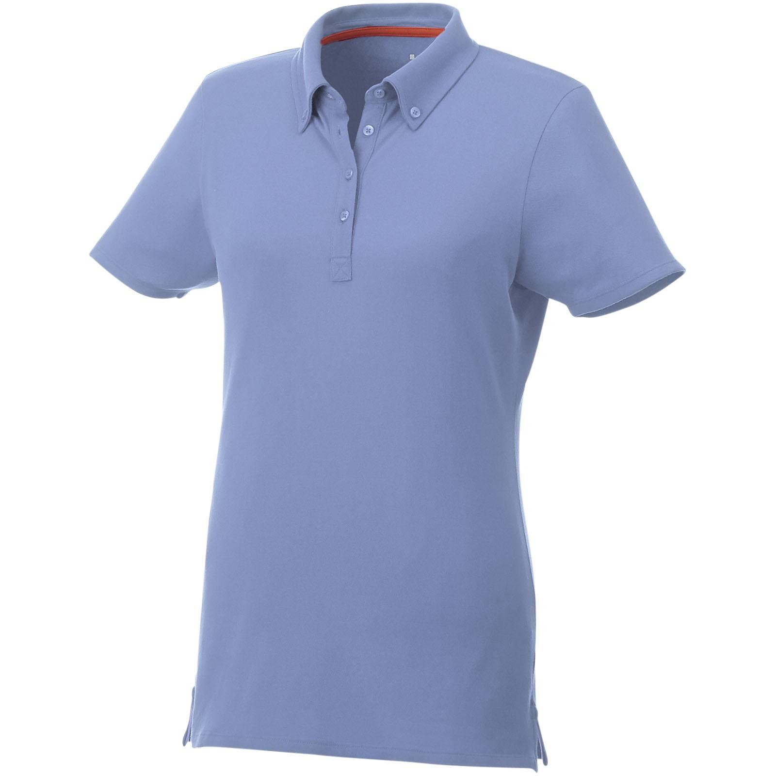 Atkinson short sleeve button-down women's polo - Light Blue / S