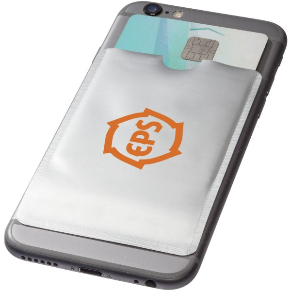 Exeter RFID smartphone card wallet - Silver