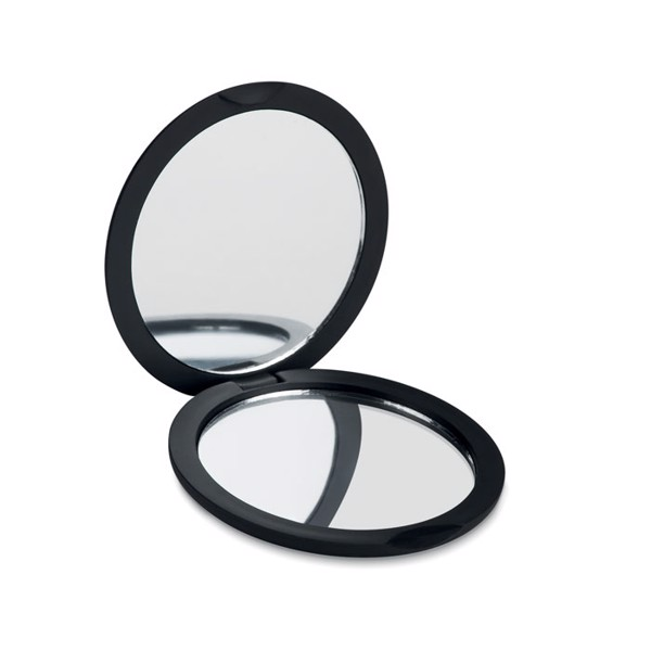 Double sided compact mirror Stunning - Black