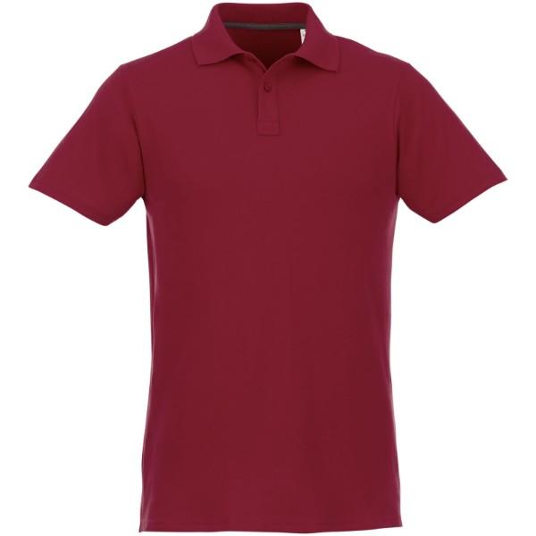 Helios short sleeve men's polo - Burgundy / S