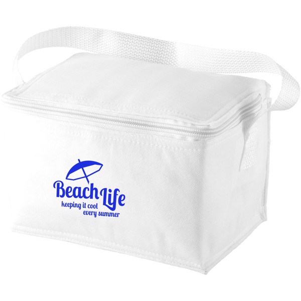 Spectrum 6-can cooler bag - White