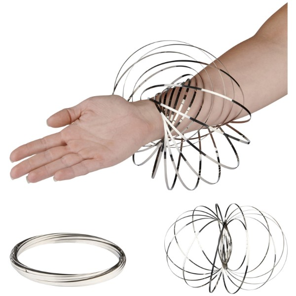 Agata flow ring stress reliever - Silver