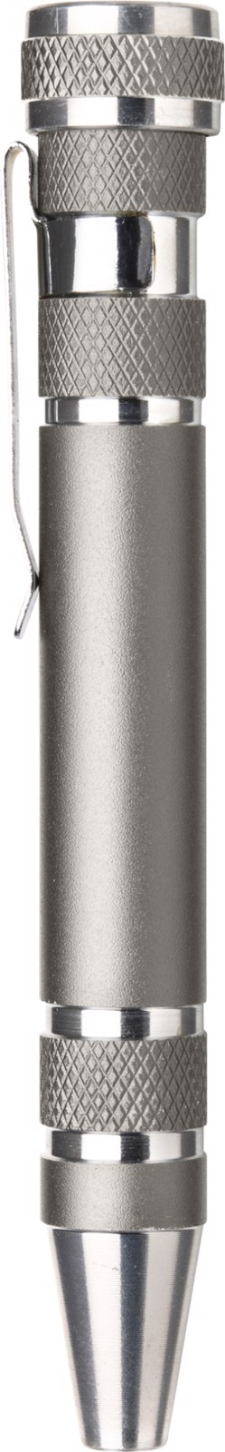 Aluminium pocket screwdriver - Grey