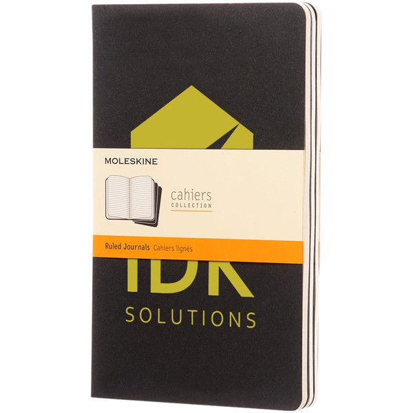 Cahier Journal L - ruled - Solid black