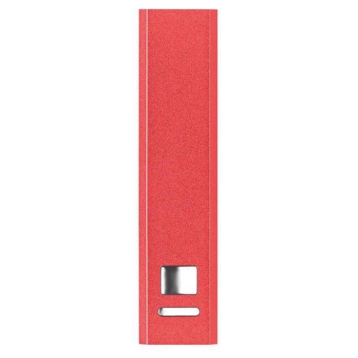 Powerbank w aluminium Poweralu - czerwony