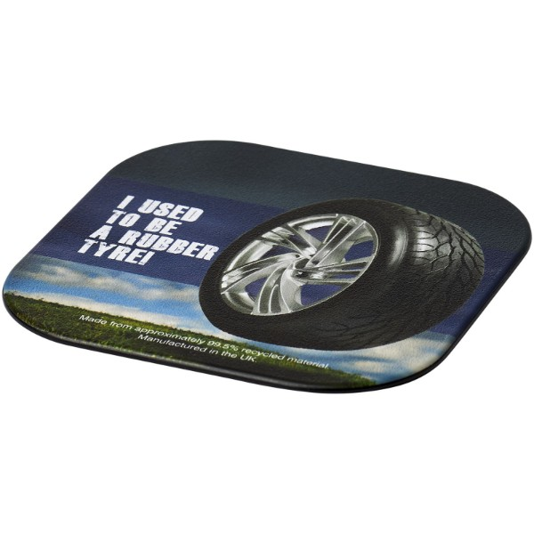 Brite-Mat® square coaster with tyre material