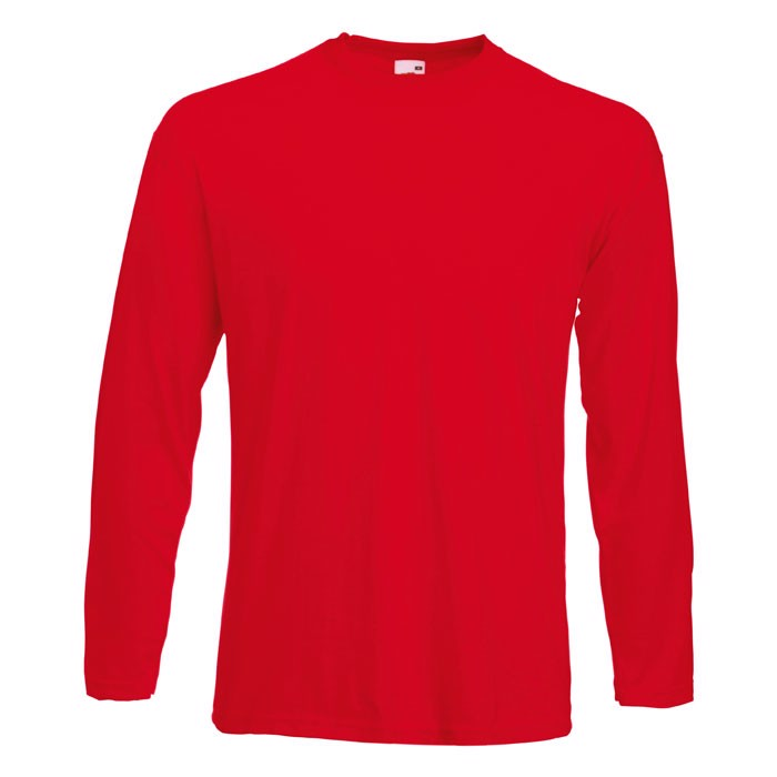T-shirt 165 g/m² Value Weight Ls 61-038-0 - Red / XL