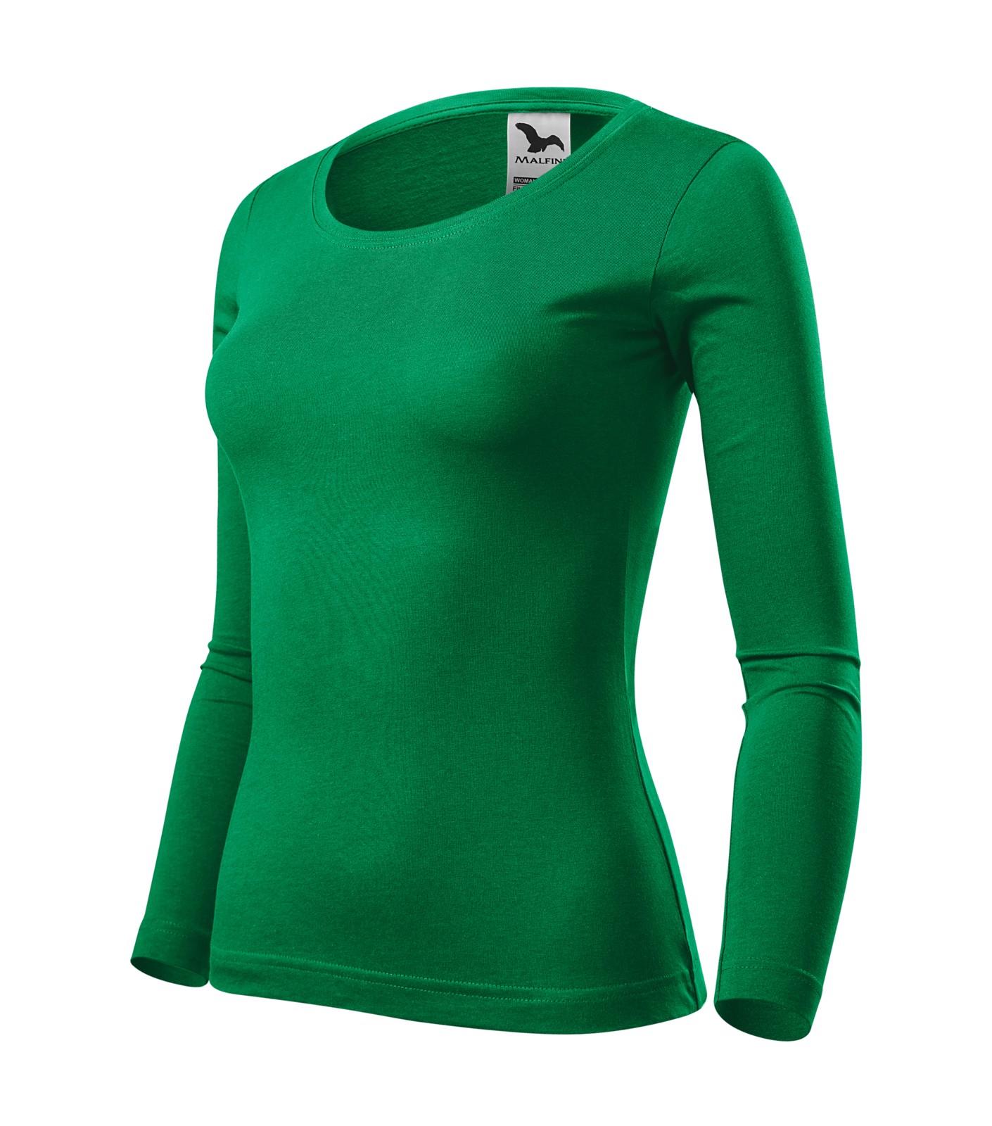 Triko dámské Malfini Fit-T LS - Středně Zelená / M