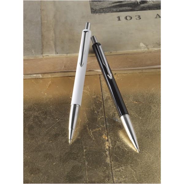Kuličkové pero Vector - Bílá / Stříbrný