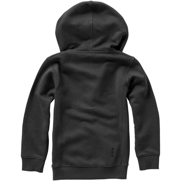 Arora celopropínací svetr na zip s kapucí pro děti - Anthracitová / 128