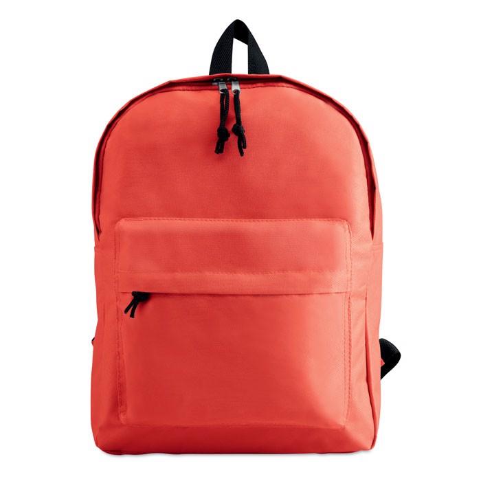 Plecak z zewnętrzną kieszenią Bapal - czerwony