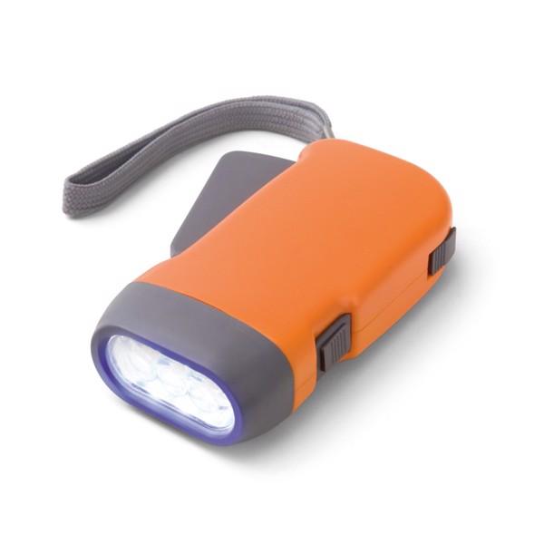 EDDIE. Dynamo flashlight - Orange