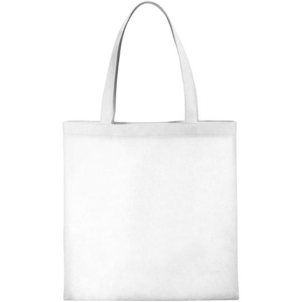 Zeus small non-woven convention tote bag - White