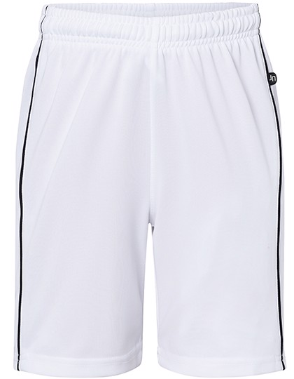 Basic Team Shorts Junior - White / Black / XXL