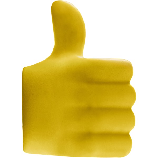 Thumbs-up stress reliever - Yellow