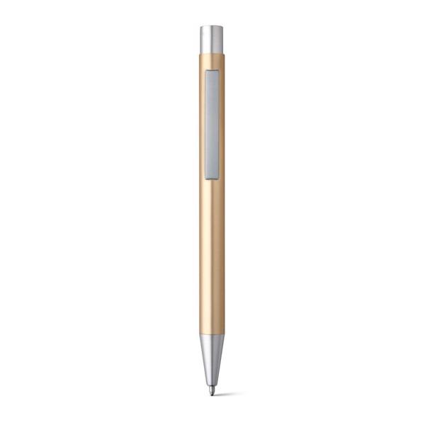 LEA. Hliníkové kuličkové pero - Saténově Zlatá