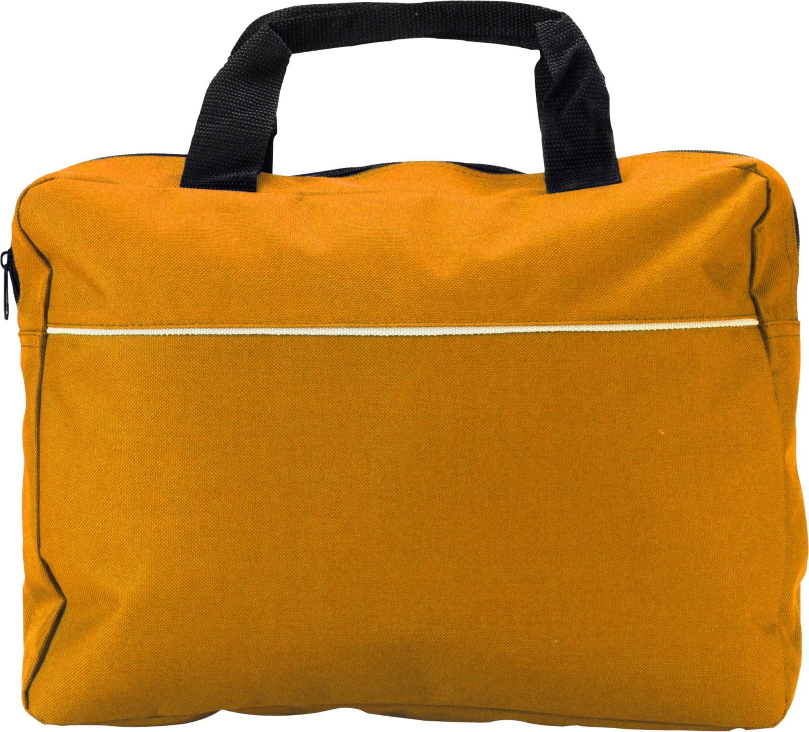 Polyester (600D) document bag - Orange