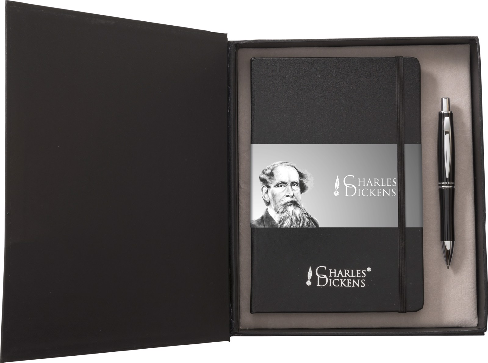 Aluminium Charles Dickens® writing set