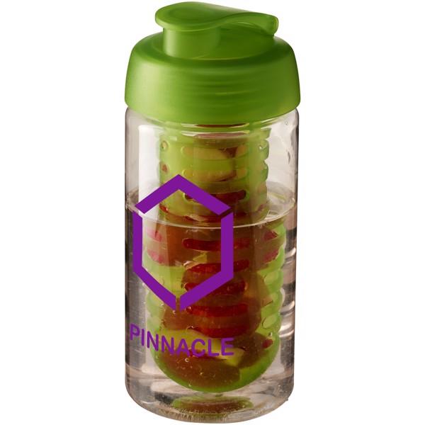 Sportovní láhev s infuzérem avyklápěcím víčkem H2O Bop® 500 ml - Transparent / Lime
